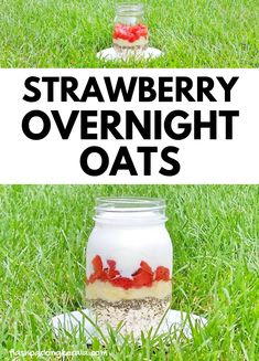EASY healthy strawberry banana chia overnight oats with coconut milk :: Fruit breakfast ideas Strawberry Overnight Oats, Chia Overnight Oats, Strawberry Fruit, Frozen Strawberries, Banana Coconut, Coconut Milk, Healthy Oatmeal Breakfast, Breakfast Ideas, Coconut Recipes