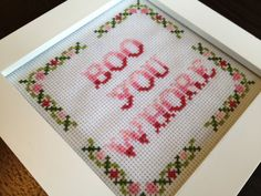 PATTERN Boo You Whore ORIGINAL Funny Subversive by stephXstitch