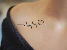Tatouage Battement De Coeur Tatouage Temporaire Pinterest