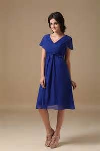 ... Dresses :: Royal Blue Tea Length Mother Of The Bride Dress By Designer