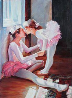 Ballet Dancer Ballerina Original Oil
