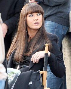 Catherine Zeta Jones con flequillo recto