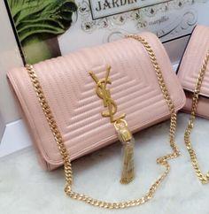 S/S 2015 Saint Laurent Bags Cheap Sale-Classic MONOGRAM SAINT LAURENT Tassel Satchel in Pink Matelasse Leather