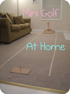 Friday Night Date Night: Mini Golf at Home
