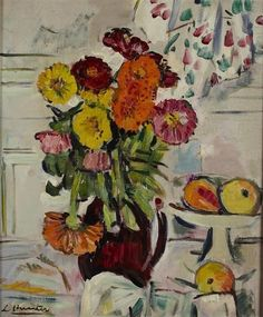 George Leslie Hunter - STILL LIFE OF MIXED FLOWERS...