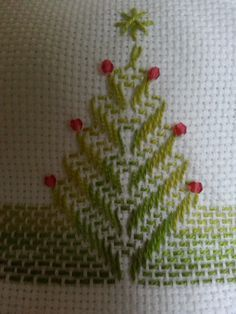 for an ornament Scandinavian Embroidery, Swedish Embroidery, Towel Embroidery, Embroidery Sampler, Hardanger Embroidery, Types Of Embroidery, Ribbon Embroidery, Cross Stitch Embroidery, Embroidery Patterns
