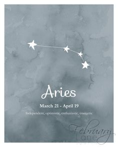 Aries Zodiac Constellation 8x10 Instant Download by FebruaryLane