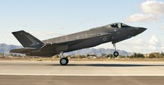 The first Royal Australian Air Force F-35A Lightning II jet arrived at Luke Air Force Base Dec. 18, 2014. The jet's arrival marks the first international partner F-35 to arrive for training at Luke. (U.S. Air Force photo by Staff Sgt. Staci Miller)