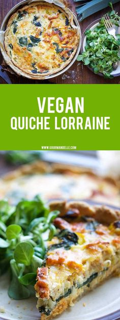 Healthy Recipes Here's how you can make the popular quiche Lorraine – vegan! This delicious vegan quiche Lorraine has the perfect 'cheesy' and 'buttery' texture of the original French recipe without any dairy! Whole Food Recipes, Cooking Recipes, Healthy Recipes, French Vegetarian Recipes, Cooking Time, Vegan Tofu Recipes, Vegan Brunch Recipes, Vegan Pie, Paleo Meals
