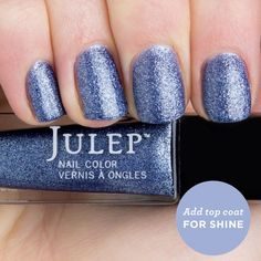 Tracy | Julep// Sparkly ocean blue sea salt (add top coat for a high-shine finish)