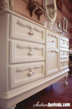 Vintage 1970's Dresser Becomes Modern Buffet A Dresser Revival - Top 60 Furniture Makeover DIY Projects and Negotiation Secrets