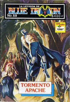 LA Leyenda de Blue Demon Portada de Rafael Gallur Blue Demon, Mexican Revolution, Pulp Fiction Art, Pin Up Art, Comic Books Art, Art Forms, Cover Art, Concept Art, Wrestling