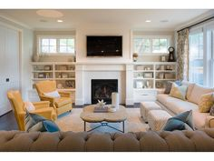 4 Daring Clever Ideas: Livingroom Remodel Sofa Tables living room remodel with fireplace products.Living Room Remodel On A Budget Barn Doors livingroom remodel sofa tables.Living Room Remodel On A Budget How To Decorate. Tv Over Fireplace, Fireplace Bookshelves, Fireplace Built Ins, Living Room With Fireplace, My Living Room, Fireplace Mantle, Bookcase, Small Living Room Layout, Living Room Furniture Layout