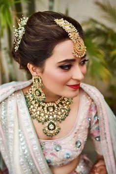 Bridal Makeup Looks, Indian Bridal Makeup, Indian Wedding Jewelry, Indian Jewelry, Indian Weddings, Ethnic Jewelry, Bridal Jewellery Inspiration, Bridal Jewelry Sets, Bridal Necklace