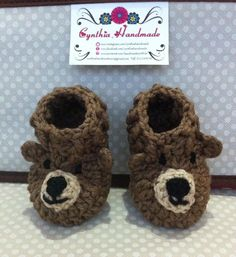 Zapaticos bebe osito Baby Shoes, Kids, Handmade, Fashion, Socks, Tights, Tejidos, Bebe, Young Children