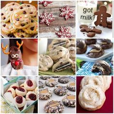 Do you participate in a cookie exchange? Need some more delicious cookie recipes? Check out these great cookies! Yummy Cookies, Holiday Cookies, Cupcake Cookies, Holiday Treats, Holiday Recipes, Brownie Cookies, Holiday Foods, Christmas Cookie Exchange, Christmas Sweets