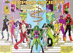 Marvel's The Serpent Society Evil Villains, Marvel Villains, Marvel Characters, Batman Comic Books, Batman Comics, Comic Art, Marvel Comic Universe, Marvel Art, Gi Joe