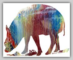 5 Babirusa printables different colors Wall Art by MordaxFurittus
