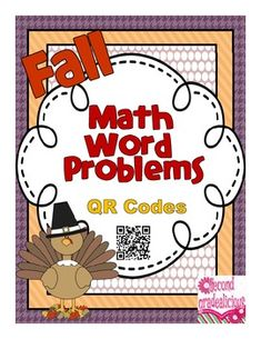Fall Math Word Problems Booklet - QR Codes - Addition and Subtraction to 20. $
