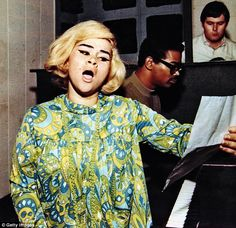 Etta James recording at Fame Studios :: Muscle Shoals, Alabama :: 1967