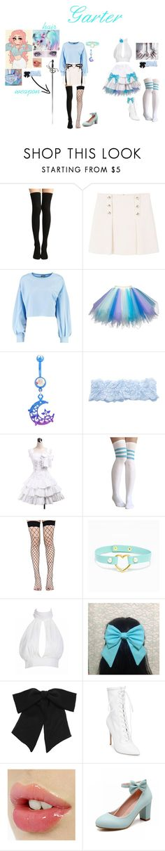 """""""Panty and Stocking with Garterbelts Oc: Garter"""" by ghostastickitty ❤ liked on Polyvore featuring MANGO, Boohoo, Hot Topic, Fogal, Leg Avenue, LULUS, Yves Saint Laurent, Steve Madden and Marvel"""