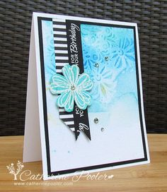 Watercolor, embossing, stencils... http://catherinepooler.com/2014/06/distress-ink-water-embossing-oh-fun/