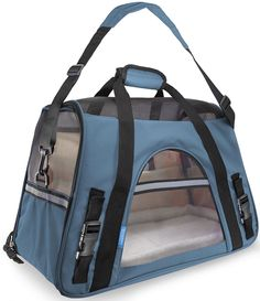 OxGord Pet Carrier Soft Sided Dog Comfort Travel Tote Bag Airline Approved