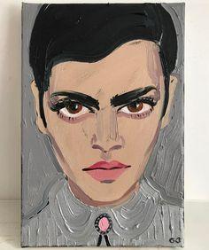Portrait of Natasha by Gill Button