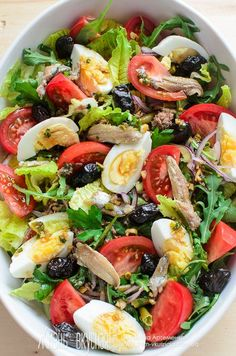 Nicoise salad how to cook, recipe to prepare … – Chicken Recipes Pasta Recipes, Salad Recipes, Chicken Recipes, Cooking Recipes, Healthy Cooking, Healthy Snacks, Healthy Eating, Healthy Recipes, Top Salad Recipe