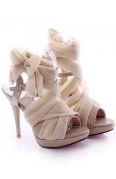 Silk Tie Up Shoes ❤️︎ L.O.V.E.                                                                                                                                                                                 More #weddingshoes