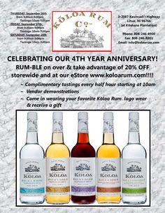4th Year #anniversarysale 20% off #kauai #koloarum