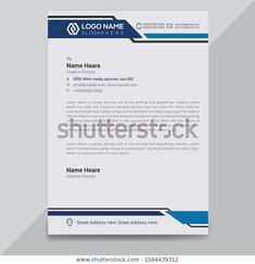 Find Creative Modern Business Letterhead Design Template stock images in HD and millions of other royalty-free stock photos, illustrations and vectors in the Shutterstock collection. Letterhead Template Word, Invoice Design Template, Templates, Letterhead Design Inspiration, Brochure Design, Branding Design, Penny Dreadful, Creative Director, Manish