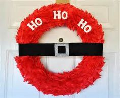 Life With 4 Boys: Santa Wreath Christmas Craft Tutorial Homemade Christmas Wreaths, Christmas Crafts For Kids, Winter Christmas, All Things Christmas, Holiday Crafts, Holiday Fun, Christmas Holidays, Christmas Decorations, Festive