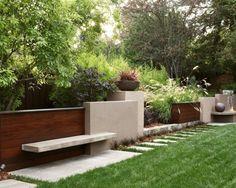 mur de jardin déco et moderne
