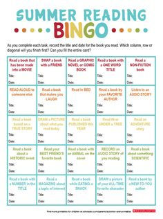 Use this book-inspired bingo sheet to encourage your child to read all summer long. #summerreading #bingo #boredombuster #kidlit #mglit