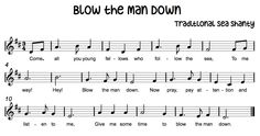 Great for 3/4 and dotted half note: Blow-the-Man-Down