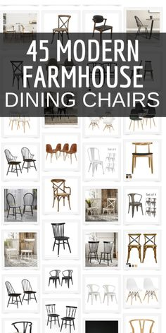 Looking for modern farmhouse dining chairs to add to your dining room furniture? Check out this collection of over 40 modern farmhouse dining chairs that you will swoon over! Room chairs farmhouse The Best Collection of Modern Farmhouse Dining Chairs Modern Farmhouse Dining Table And Chairs, Kitchen Table Chairs, Modern Farmhouse Kitchens, Farmhouse Style, Cheap Dining Chairs, Black Dining Room Chairs, Rustic Farmhouse, Dining Room Design, Decoration