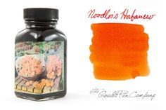 3 oz (90ml) bottle of Noodler's Habanero fountain pen ink. Bottle may come in plastic or glass - stock is varied.