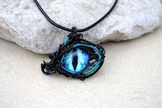 Purple - blue Dragon\'s eye wire wrapped pendant by IanirasArtifacts ...