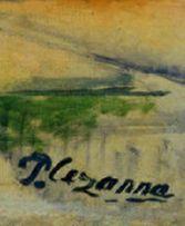 Detail of Cezanne's signature on his painting Montagne Sainte-Victoire Paul Cezanne, Manet, Creative People, Art History, Monogram, Notes, Paintings, Adventure, Detail