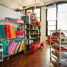 Make your dream sewing space a reality. Let these real sewing rooms inspire you … Make your dream sewing space a reality. Let these real sewing rooms inspire you and learn some valuable organizational tips along the way. Sewing Room Storage, Sewing Room Organization, Quilt Studio, Sewing Spaces, Sewing Rooms, Sewing Room Furniture, Space Crafts, Craft Space, Sewing Table