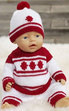 Ravelry: Baby Bornin neuleasu pattern by Minna Metsänen Baby Born Clothes, Crochet Baby Clothes, Girl Doll Clothes, Doll Clothes Patterns, Doll Patterns, Baby Born Kleidung, Knitted Dolls, Baby Sweaters, Diy Doll