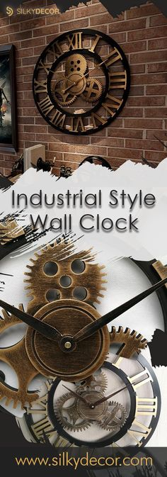 ⚜ Industrial Style Wall Clock Nothing ties a room together better than a great clock😍 Living Room Sets, Living Room Decor, Living Room Furniture, Corner Furniture, Lane Furniture, Reclaimed Furniture, Refinished Furniture, Street Furniture, Furniture Vintage