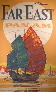 Far East - Pam Am 1970s [PA ASI 70 Far East] :: Airline Poster Art - The Airline Poster Art Collection