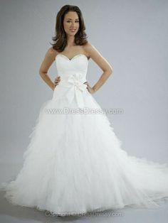 Princess Sweetheart Tulle Court Train Beading Wedding Dresses -$239.39