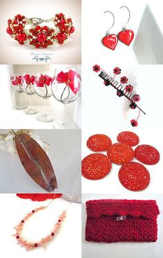 Handmade Reds by Debbie Cagle Flaherty on Etsy--Pinned with TreasuryPin.com