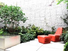 stefan morael tuinarchitect / een lichte en luchtige buitenkamer tuin, etterbeek