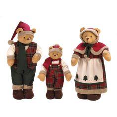 Holiday Plush Bear Family
