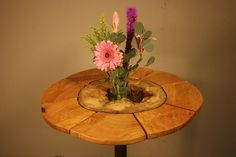 Hollow Log Bistro Table 3 by IsGoodWoodworksShop on Etsy