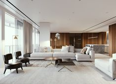 Ѥ 35 Secret Answers to Key Features and Design of Luxury Living Room Interior You Must Have Exposed omdeco - homeuntold Living Room Modern, Living Room Interior, Home Living Room, Contemporary Living Room Designs, Interior Livingroom, Contemporary Interior Design, Modern Contemporary, Interior Design Minimalist, Decor Interior Design
